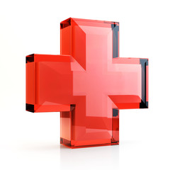 Red cross 3D