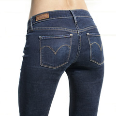 Body part blue female jeans