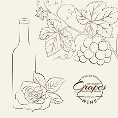 Hand drawn wine label