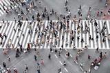 Fußgänger überqueren eine Straße