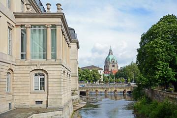 Hannover, Leineschloss & Rathaus