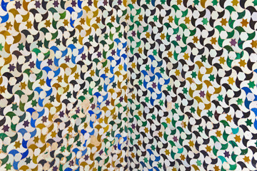 Mosaic of courtyard of Machuca. Alhambra, Granada