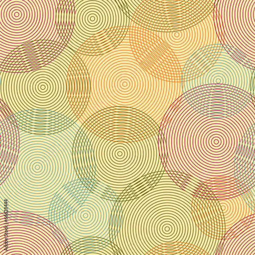 Abstract seamless background  of rings. Vector - 66628444