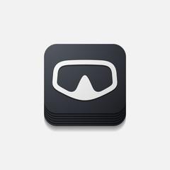 square button: mask
