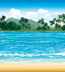 Tropical landscape.