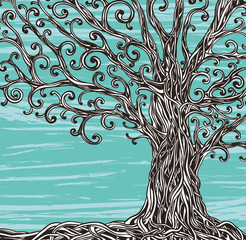 Old grafic tree