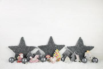 Weihnachtsdekoration Shabby Chic Style pastellfarben