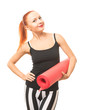 Fitness woman with yoga mat