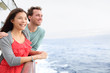 Cruise ship couple romantic on boat