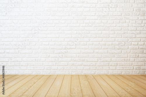 Fotobehang Stad gebouw empty white room