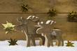 Handarbeit: Holztiere - Renntier, Elch oder Hirsch zu Xmax