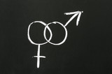 Male and female gender symbols poster