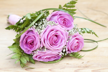 Photo of pink wedding bouquet