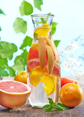cold citrus fruit drink