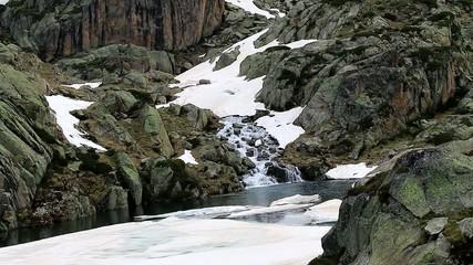 Cascade, fonte des neiges