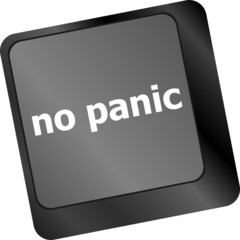 No panic key on computer keyboard - social concept
