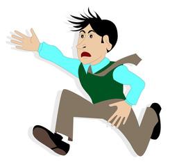 illustrazione di uomo che corre