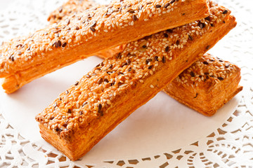 bread sticks with sesame