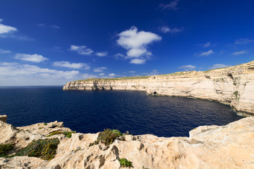 Coastline near Azure Window on Gozo Island horizontal