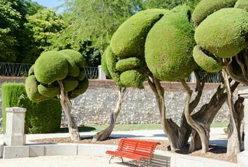 The Buen Retiro Park in Madrid Spain horizontal