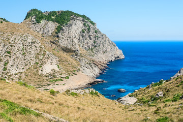 Beautiful Beach Bay Cala Figuera on Cape Formentor in Mallorca S