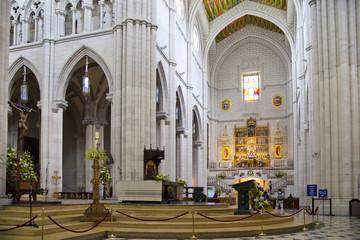 Cathedral Santa Maria la Real de La Almudena in Madrid, Spain.