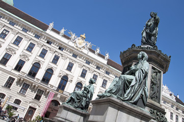 Monument to Emperor Franz I in Hofburg
