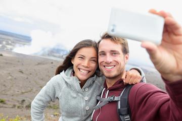Hawaii - couple sefile by Hawaiian volcano