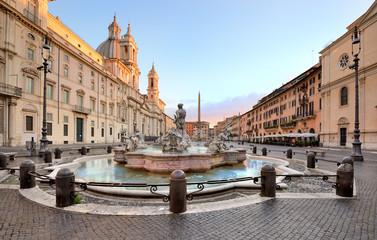 Piazza Navona, Fontana del Moro, Rome