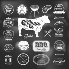 Beef specialty restaurant elements design
