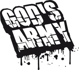 Gods Army Soldaten Team Freunde Graffiti