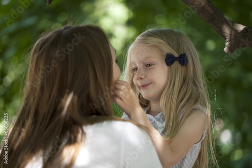 canvas print picture Portrait of a mother and daughter