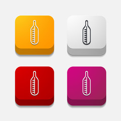 square button: thermometer