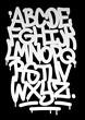 Hand written graffiti font alphabet. Vector - 66639015