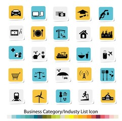Business Category and Industry List Icon