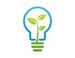 energy plant logo,lamp idea business solution symbol,bulb light