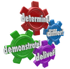 Determine Differ Demonstrate Deliver Four Steps WInning New Cust