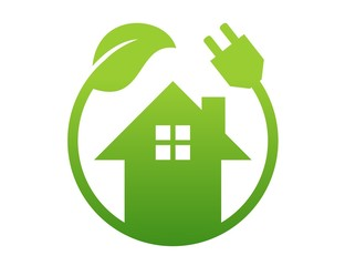 energy house logo,real estate business solution,electric plants