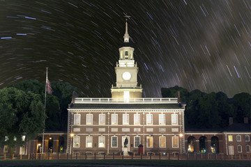 Independence Hall Star Trails