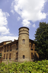 Castle of Frascarolo detail, Pavia. Color image