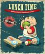 Vintage Lunch time poster design