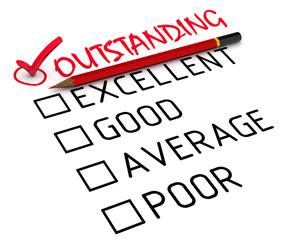 """Отзыв (оценка) """"исключительно"""" (outstanding)"""