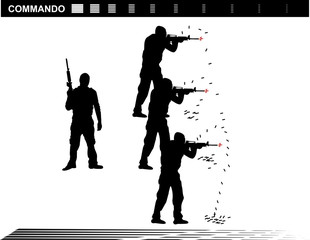 Vector illustration    Special Forces   SWAT Team  Police