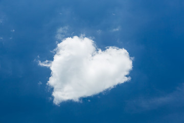 Heart shape white cloud