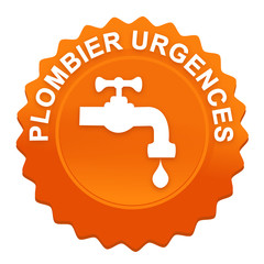 plombier urgences sur bouton web denté orange