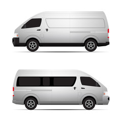 van transport vector concept
