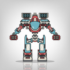 Super War Robot Illustration
