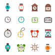 clocks icons vector eps10