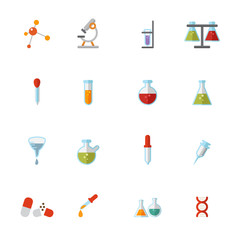 science icons vector eps10