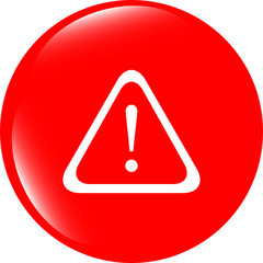 Attention sign icon. Exclamation mark. Hazard warning symbol